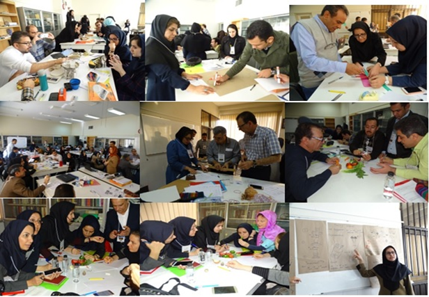 Hands on activities during 2nd National Workshop for Professional Development on IBSE held in Isfahan, Iran (25-29 Nov. 2018)