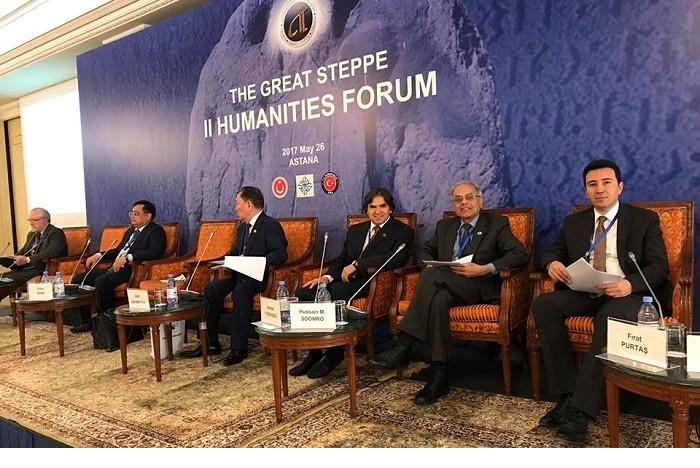 "President ECOSF attending the 2nd Social Sciences Forum ""The Great Steppe"" as an Invited Speaker, organized by TWESCO in Astana, Kazakhstan on May 26, 2017"