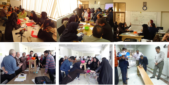 "Hands on activities during the 1st National Workshop on IBSE entitled ""Professional Development Programme on IBSE"" in Iran, jointly organized by ECOSF and University of Isfahan, from Jan. 8-13 2017"