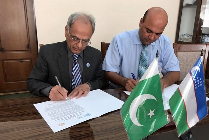 "ECOSF signs MoU with Tashkent State Agrarian University, Uzbekistan to set up the ""ECO Network of Agrarian Universities and Institutions"" to promote Agricultural Research in the ECO region (Sep 7, 2017)"