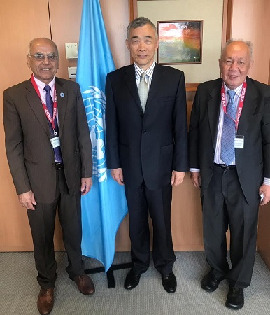 President ECOSF Calling upon the Deputy Director General of UNESCO Prof. Xing QU at UNESCO HQs Paris (June 19, 2019)