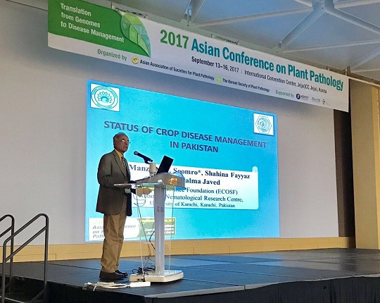 President ECOSF participated in Asian Conference on Plant Pathology 2017 (ACPP 2017), held at Jeju-South Korea September 13-16 2017