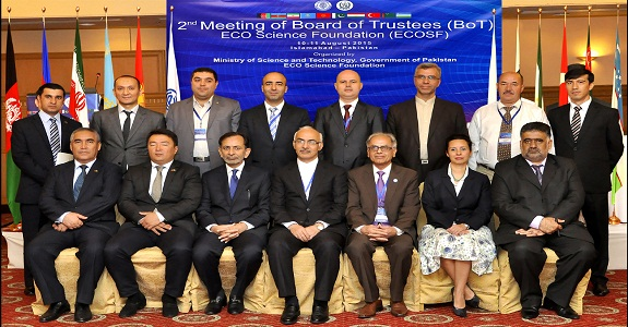 The Delegates from ECO Member States during the 2nd Meeting of ECOSF BoT (11 Aug 2015)