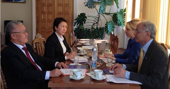 President ECO Science Foundation in a meeting with the President of National Academy of Sciences of Kyrgyz Republic - Bishkek, 7 October 2015